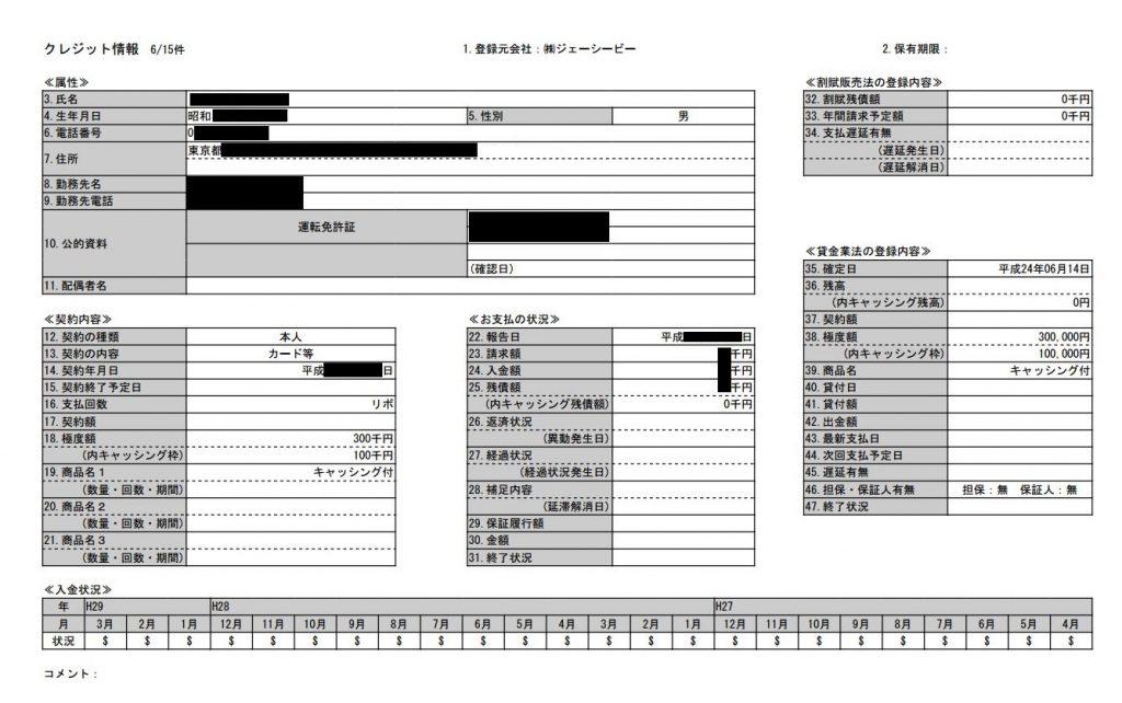 CIC契約情報01