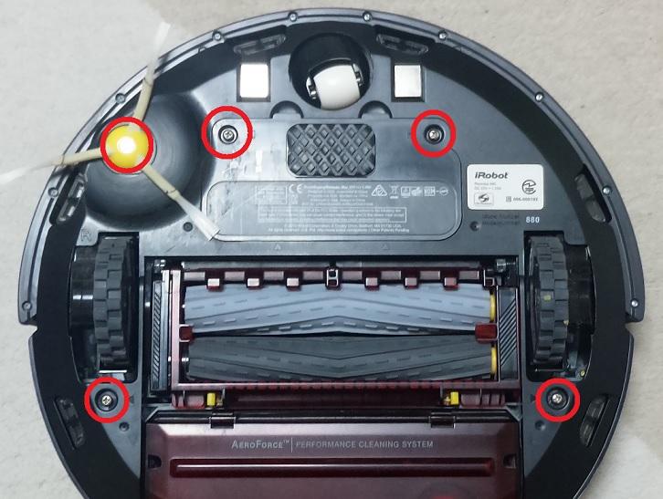前輪モジュール交換ネジ位置