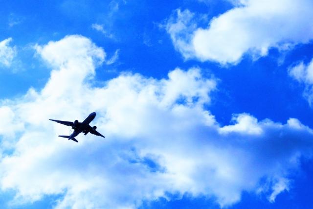 飛行機で高飛び